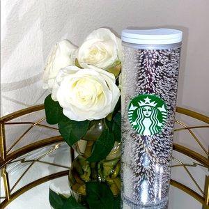 Starbucks Silver Sparkling Bubble Travel Tumbler🤍